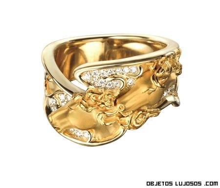 anillos con diamantes lujosos