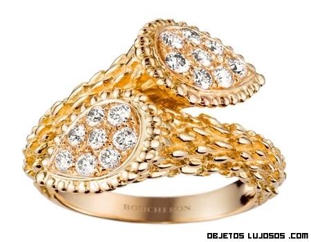 anillos con forma de serpiente