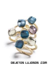 Piedras preciosas en anillos de compromiso