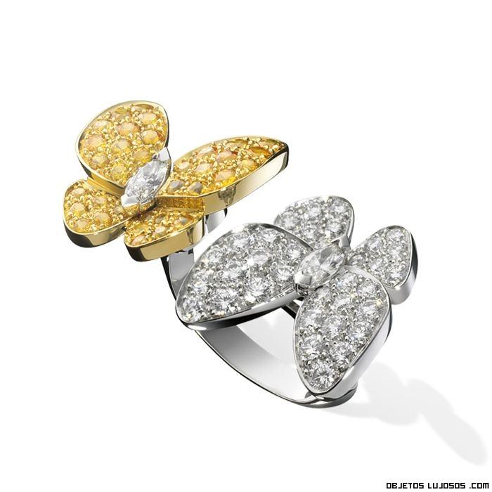 anillos de lujo bicolores