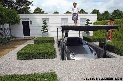 aparcamientos en mansiones de lujo