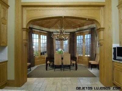 interiores de madera en salones
