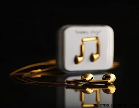 Auriculares oro de 18 quilates