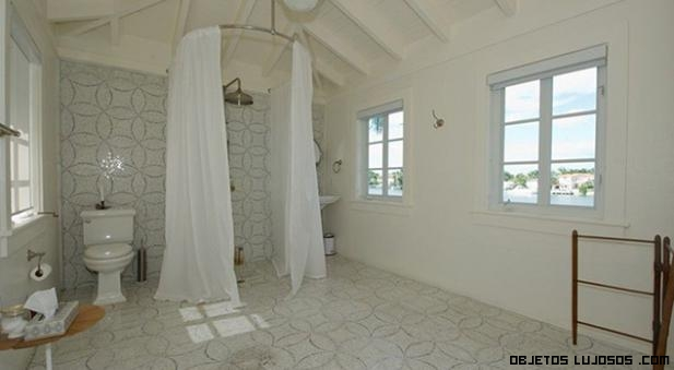 Baños con duchas redondas