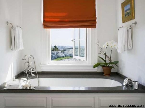 baños de mármol en casas de lujo