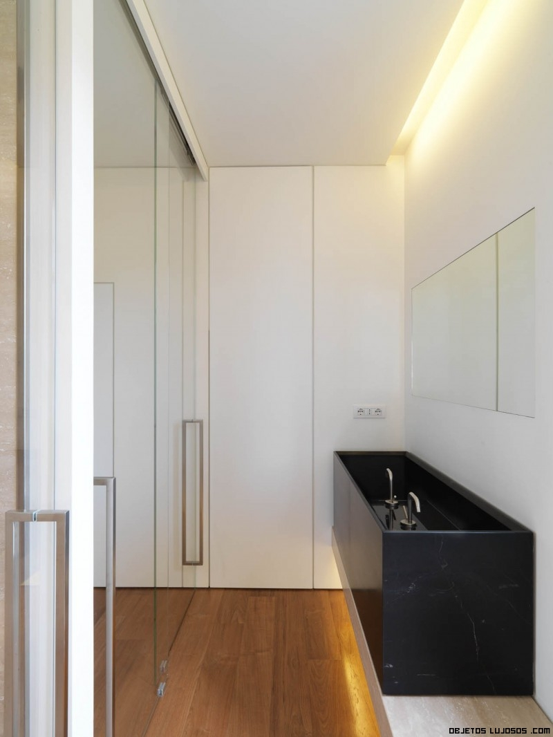 baños con armarios en cristal