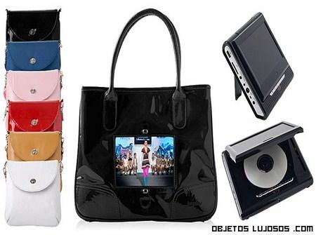 Bolsos de colores con televisión incorporada