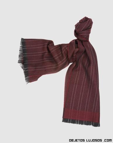 bufandas con rayas en color gris