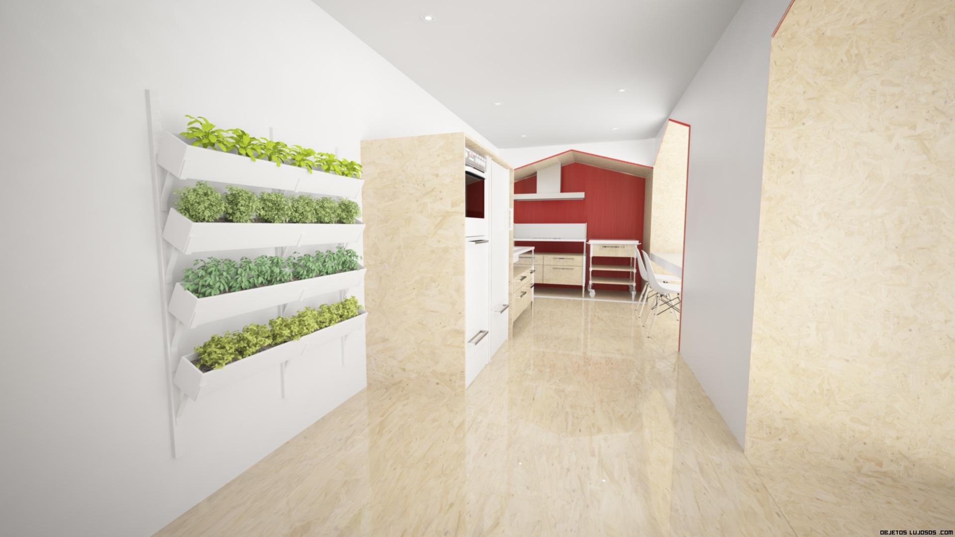 pasillos de madera