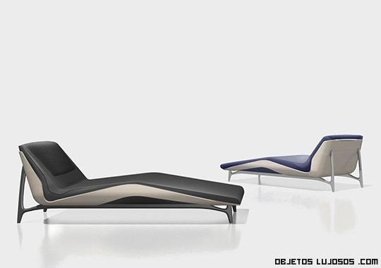 chaise longue de lujo