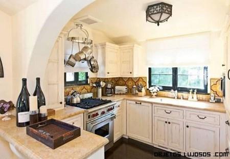 Cocinas de lujo en casas de famosos