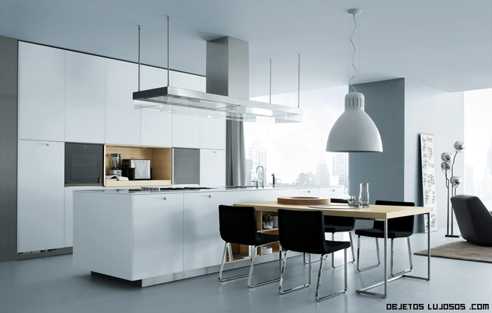 cocina con elementos en color negro