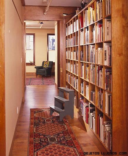 bibliotecas en pasillos