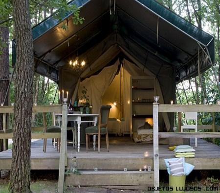 cabaña en camping de lujo