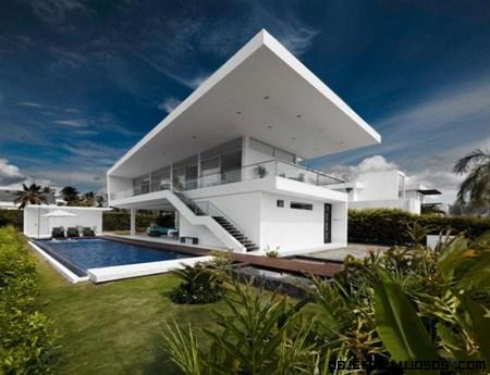 Fachadas de casas de lujo