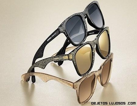 gafas de lujo con purpurina