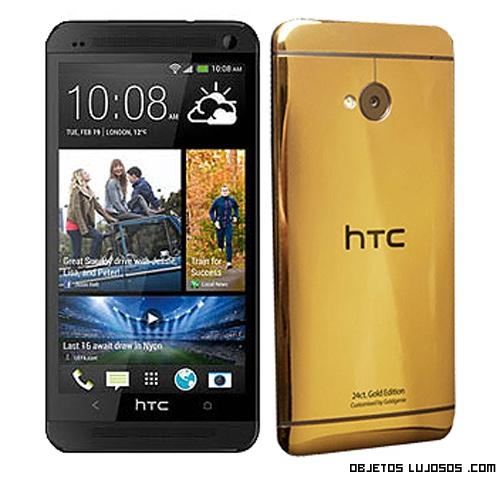 teléfonos bañados en oro