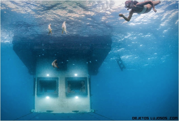 Hoteles de lujo bajo el mar