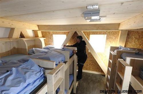hoteles con interior de madera