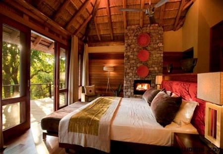 habitaciones con decoración rústica