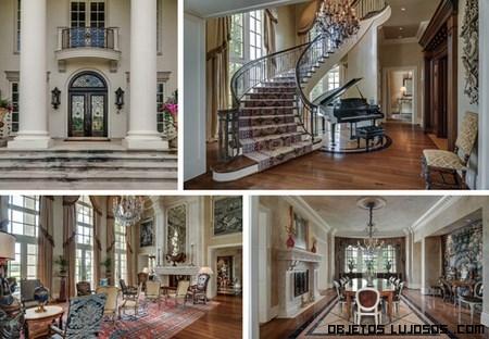 decoración clásica en casa de famosos