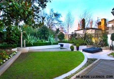 Jardines lujosos para mansiones