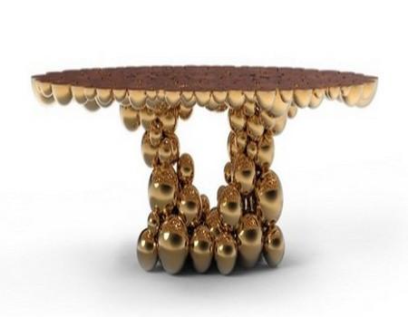 mesa de comedor de oro