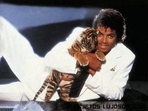 Michael Jackson y su mascota