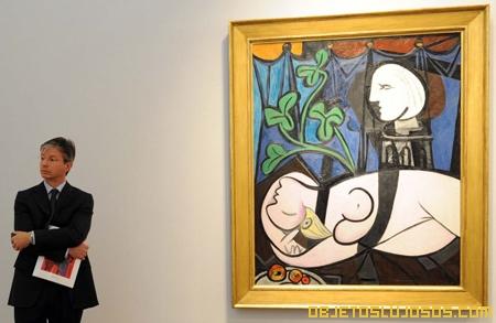 Picasso desnudo hojas verdes y busto 1