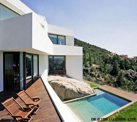 piscinas en terrazas de madera