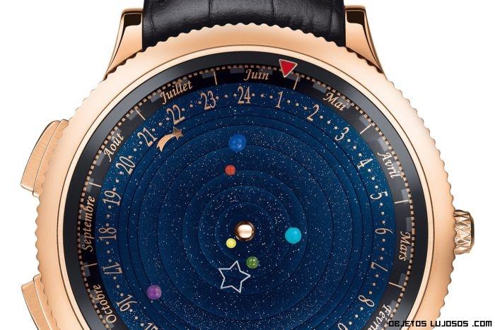 Base de reloj con los planetas