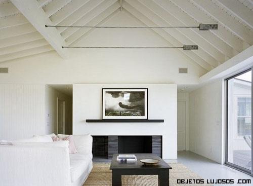 salas minimalistas en color blanco