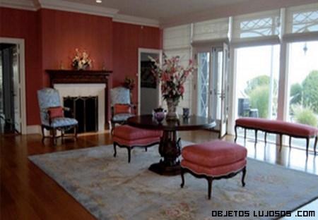 chimeneas de lujo en casas de famosos