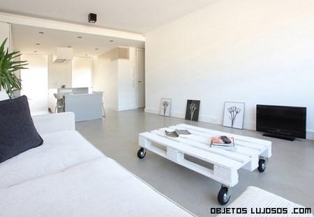 Decoración de lujo en salones minimalistas