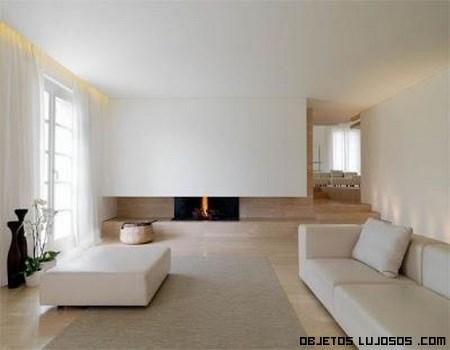 sofás de lujo minimalistas