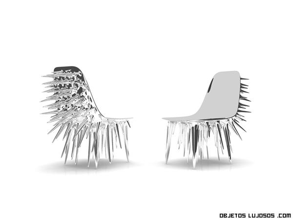 sillas plateadas para comedores de lujo