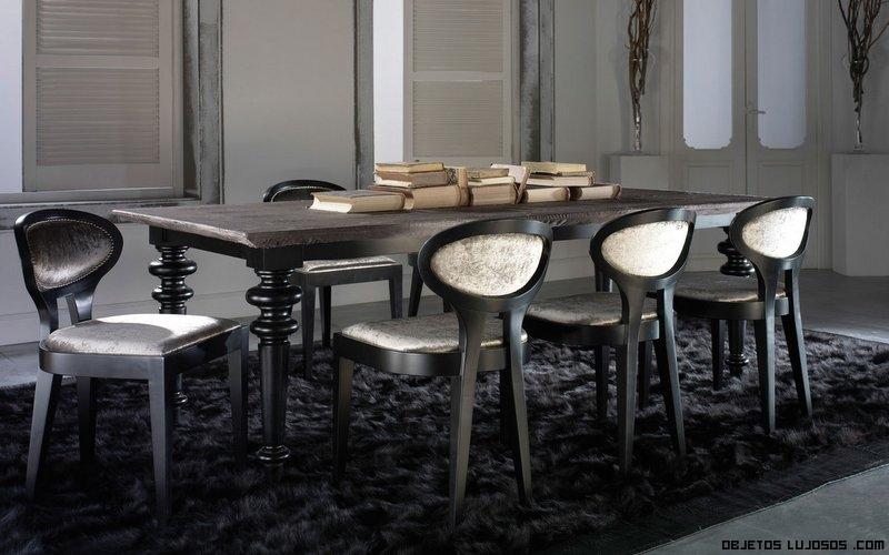 mesas de comedor en negro