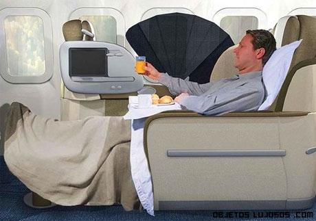 Vacaciones de lujo en aviones modernos