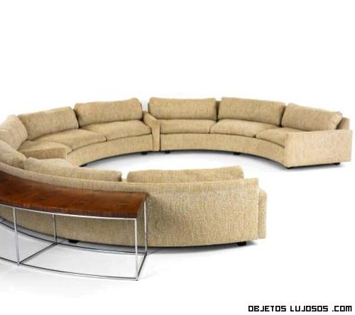 sofás de tela para casas de lujo