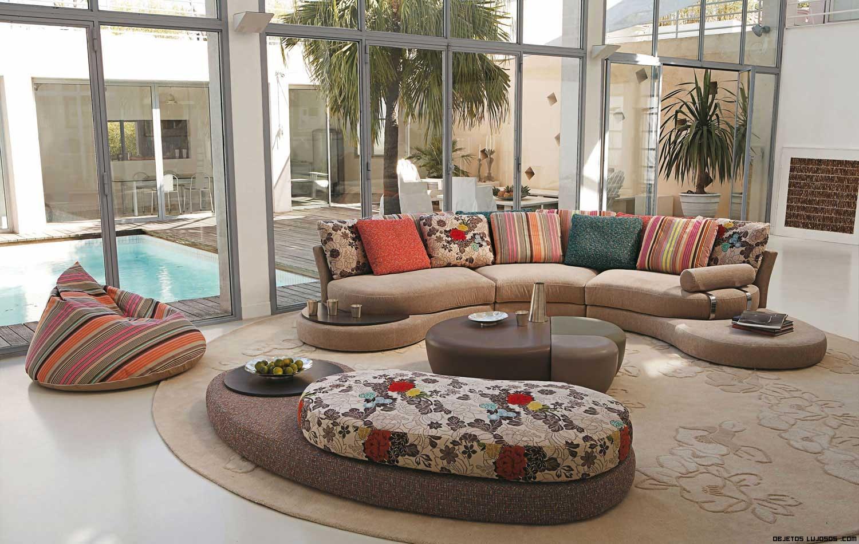 sofás estampados de lujo