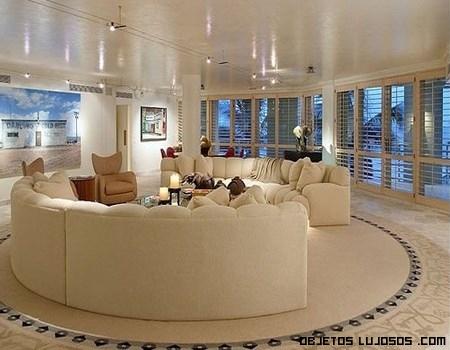 sofás en color crema