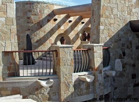 terrazas cubiertas con piedra