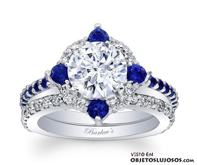 anillos de compromiso con piedras azules