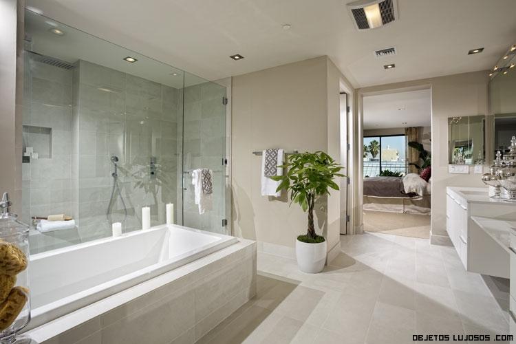 baños de lujo con mármol