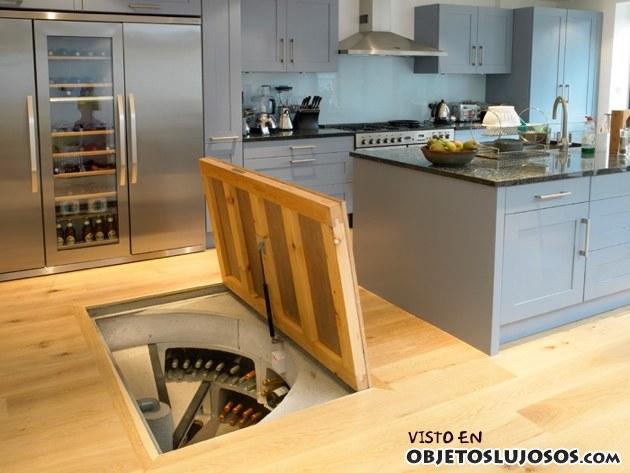 bodega de vino en la cocina