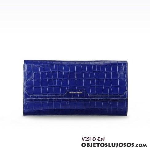 bolso de mano azul armani