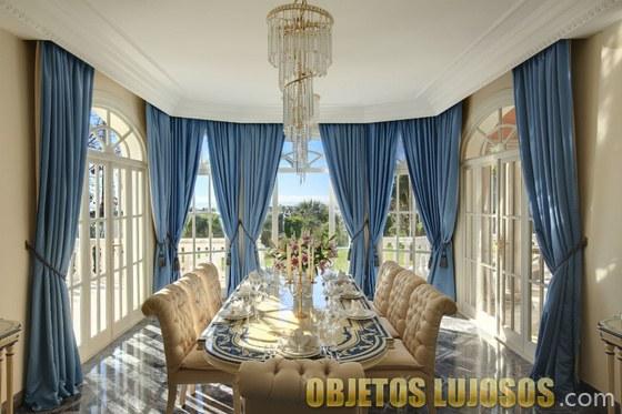 comedor mansión prince en marbella