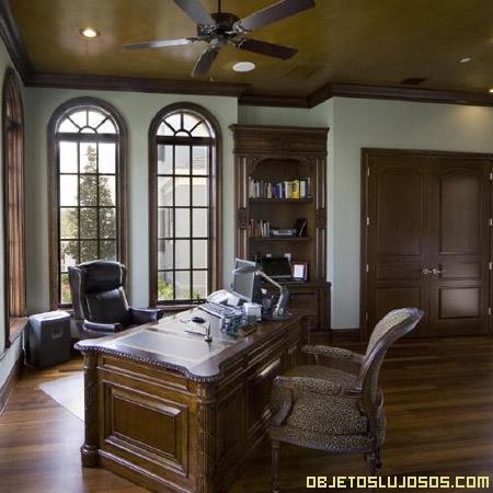 Decoracion de despachos de trabajo objetos lujosos for Muebles de oficina lujosos