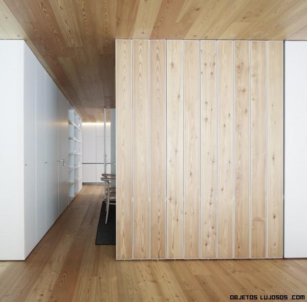 madera en el interior de casas lujosas