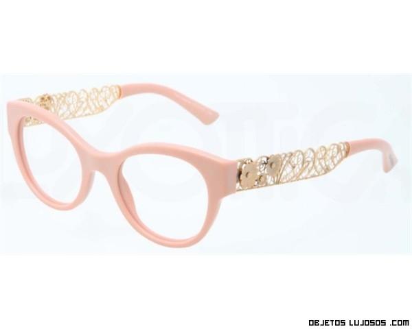 Gafas en rosa y dorado